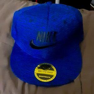 Nike Black & Blue Snapback Hat